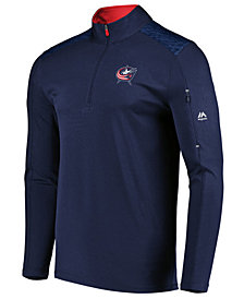 Majestic Men's Columbus Blue Jackets Ultra Streak Half-Zip Pullover