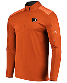 Majestic Men's Philadelphia Flyers Ultra Streak Half-Zip Pullover