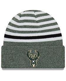 New Era Milwaukee Bucks Striped Cuff Knit Hat