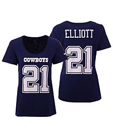 Nike Women's Ezekiel Elliott Dallas Cowboys Dri-Cotton T-Shirt