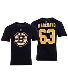 Majestic Men's Brad Marchand Boston Bruins Authentic Stack Name & Number T-Shirt
