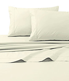 Tribeca Living 300 Thread Count Cotton Percale Extra Deep Pocket Full Sheet Set