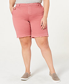 Style & Co Plus Size Released Hem Shorts, Created by Macy's
