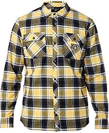 Fox Men's Traildust Yarn-Dyed Plaid Brushed Twill Flannel Shirt