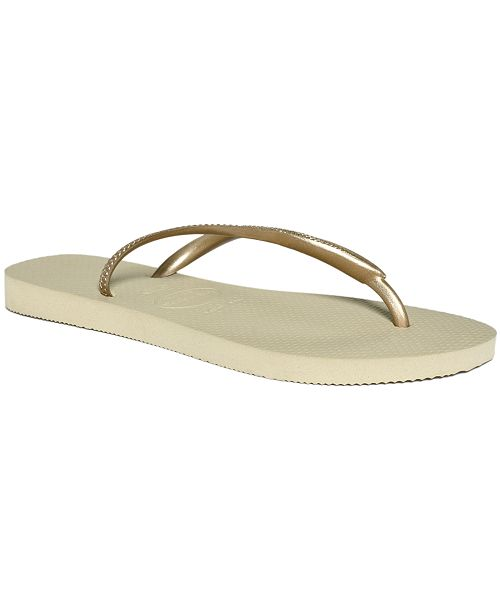 eeb2824a0 Havaianas Women s Slim Metallic Flip Flops   Reviews - Sandals ...