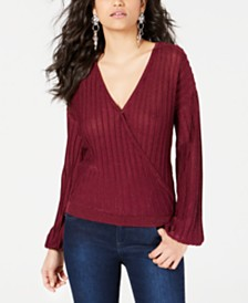 GUESS Prism Surplice Top
