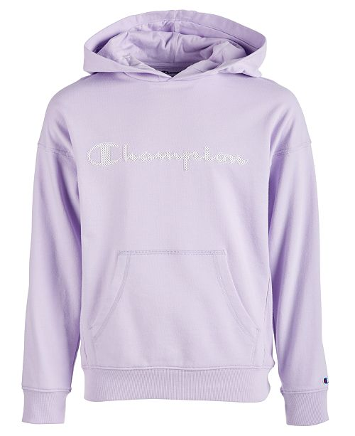 6ca12eef5 Champion Toddler Girls Mesh-Logo Frency Terry Hoodie - Sweatshirts ...