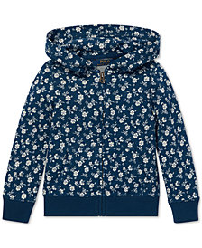 Polo Ralph Lauren Little Girls Floral-Print Cotton Hoodie