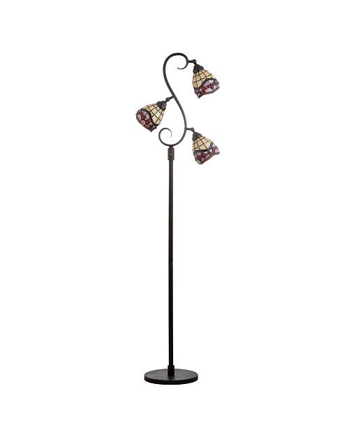 JONATHAN Y Walker Tiffany-Multi-Light Led Floor Lamp