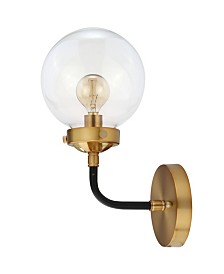 JONATHAN Y Caleb 1-Light Brass Wall Sconce