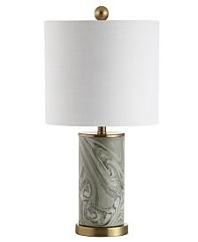 JONATHAN Y Swirl Ceramic Led Table Lamp