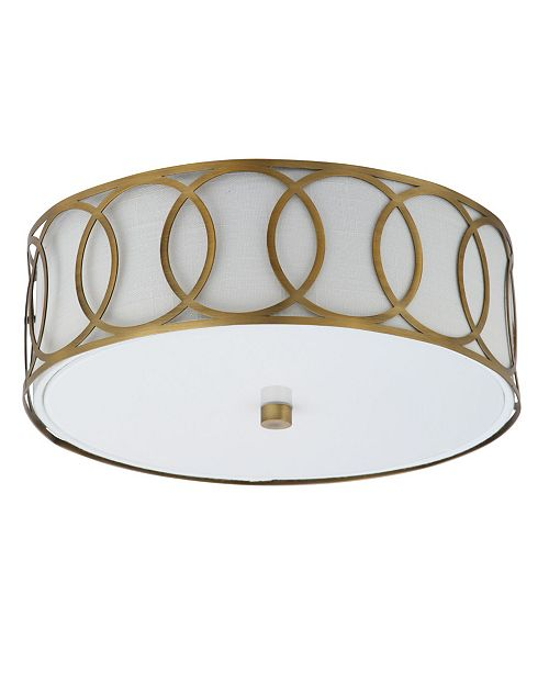 JONATHAN Y Aria 2-Light Metal Led Flush Mount