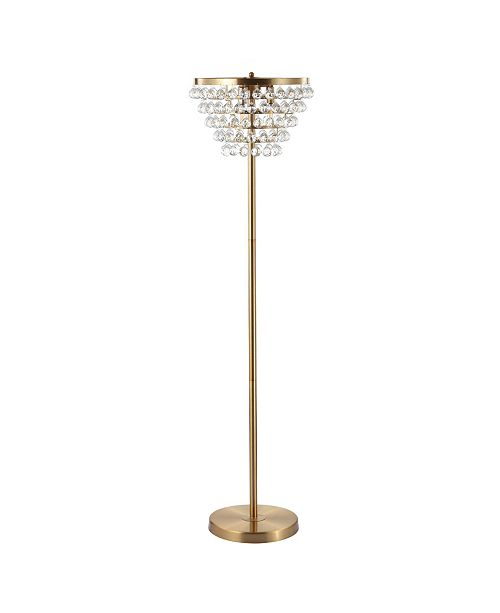 JONATHAN Y Jemma Crystal, Metal Led Floor Lamp