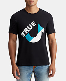 True Religion Mens Cut Off U Graphic T-Shirt