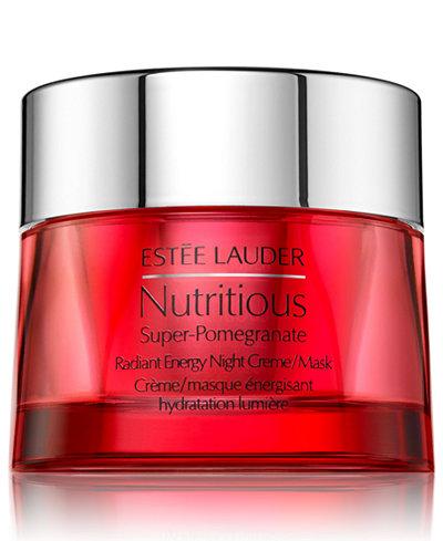 Estée Lauder Nutritious Super-Pomegranate Radiant Energy Night Creme/Mask, 1.6 oz.
