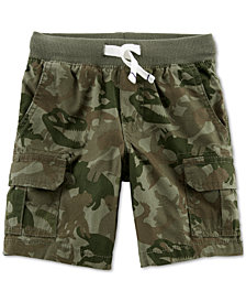 Carter's Camo-Print Cotton Cargo Shorts