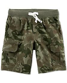 Carter's Camo-Print Cotton Cargo Shorts