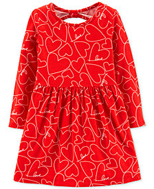 Carter's Toddler Girls Heart-Print Bow-Back Dress