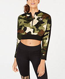 Puma Wild Pack Cropped Half-Zip Top