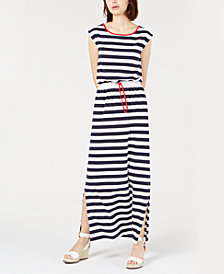 Tommy Hilfiger Striped Sleeveless Dress, Created for Macy's