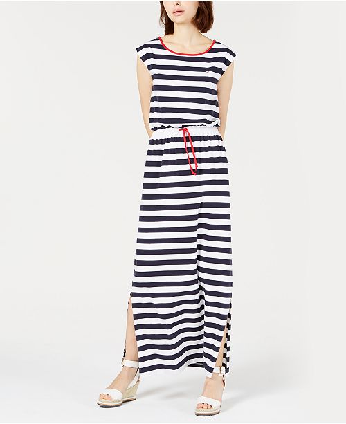 cff29d1206e ... Tommy Hilfiger Striped Sleeveless Dress, Created for Macy's ...
