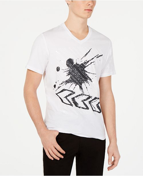 INC International Concepts I.N.C. Men's Rustle Graphic Sequin T-Shirt, Created for Macy's