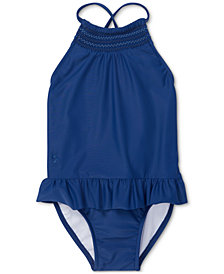 Polo Ralph Lauren Baby Girls Smocked One-Piece Swimsuit