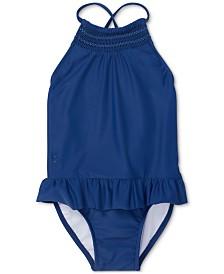Polo Ralph Lauren Baby Girls Smocked One-Piece Swimsuit