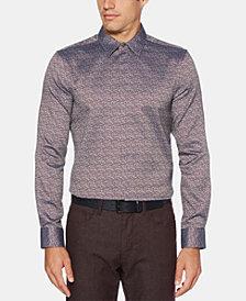 Perry Ellis Men's Slim-Fit Jacquard Shirt