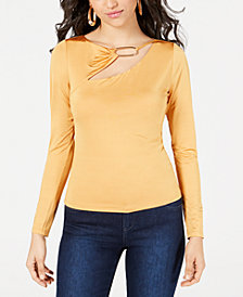 GUESS Cheryl Embellished Cutout Top
