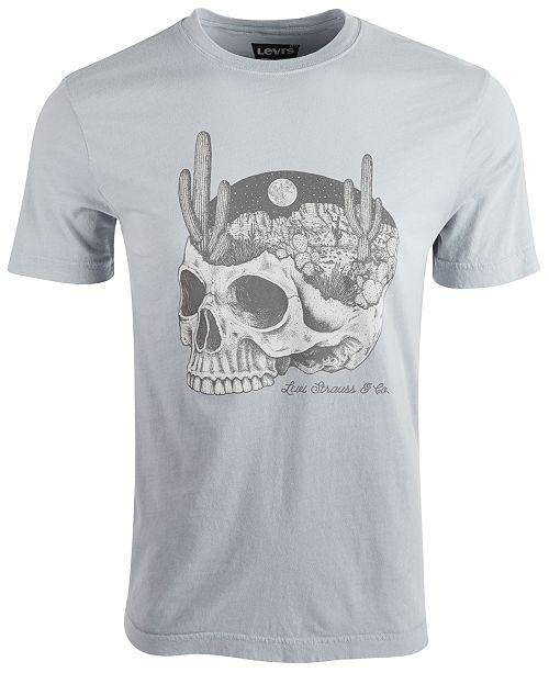 4586e643416ae Levi's Men's Desert & Skull Graphic T-Shirt & Reviews - T-Shirts ...