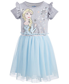 Disney Little Girls Pleated Elsa Dress