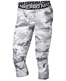 Nike Men's Pro Camo-Print Compression Cropped Leggings