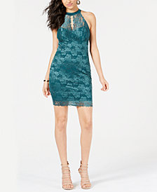 GUESS Cellesta Lace Keyhole Dress