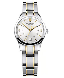 Victorinox Swiss Army Watch, Women's Two Tone Stainless Steel Bracelet 30mm 241543