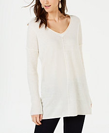 I.N.C. Ribbed Long-Sleeve Tunic Sweater, Created for Macy's