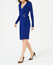 I.N.C. Wrap Sweater Dress, Created for Macy's