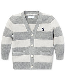 Polo Ralph Lauren Baby Boys Striped V-Neck Cotton Cardigan