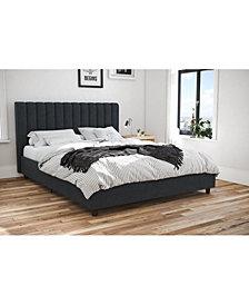 Novogratz Brittany Upholstered Queen Bed