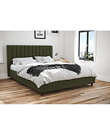 Novogratz Brittany Upholstered Queen Bed