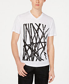 I.N.C. Men's V-Neck Graphic T-Shirt, Created for Macy's