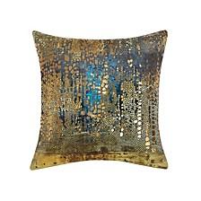 Precious Metals Collection Velvet and Gold Metallic Pillow