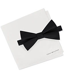 Tommy Hilfiger Men's Bow Tie & Pocket Square Set