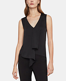 BCBGMAXAZRIA V-Neck Asymmetrical Top