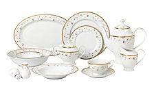 Lorren Home Trends Greta 57-PC Dinnerware Set, Service for 8
