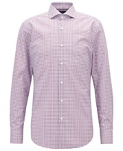 d24090b01 BOSS Men's Easy-Iron Vichy-Check Cotton Shirt