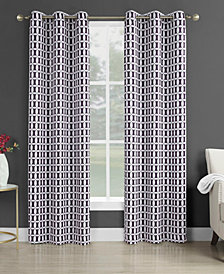 "Sun Zero Murphy Geometric Blackout Grommet Curtain Panel, 40"" W x 95"" L"