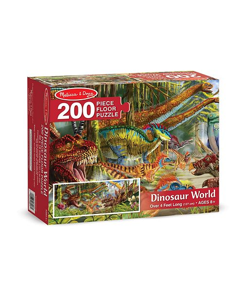 Melissa and Doug Dinosaur World Floor Puzzle (200 Pc) - Dinosaur Toy