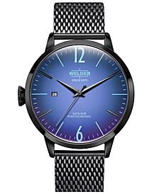 Men's Black Stainless Steel Mesh Bracelet Watch 42mm