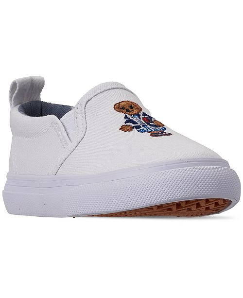 57a0fae678b9 ... Polo Ralph Lauren Toddler Girls  Carlee Bear Slip-On Casual Sneakers  from Finish ...
